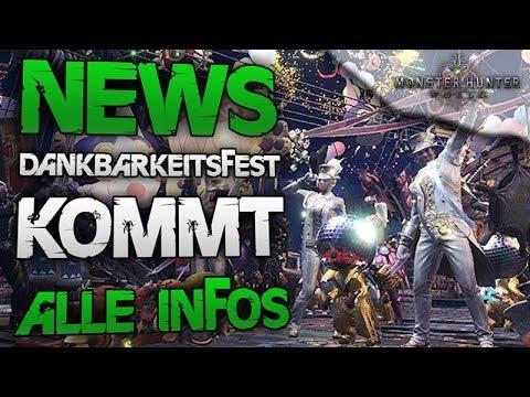 NEWS - Dankbarkeitsfest kommt zu Monster Hunter World Deutsch - Alle Infos thumbnail
