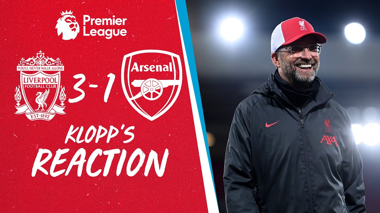 Klopp's Reaction: 'We played exceptional football against a team in form'   Liverpool vs Arsenal
