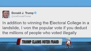 Trump claims voter fraud