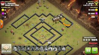 Clash Of Clans : Th9 : Queen Pop Laloon - Strongest Th9 strategy