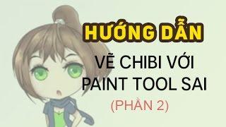 PaintTool SAI - Bài 3: Hướng dẫn vẽ chibi (phần 2)