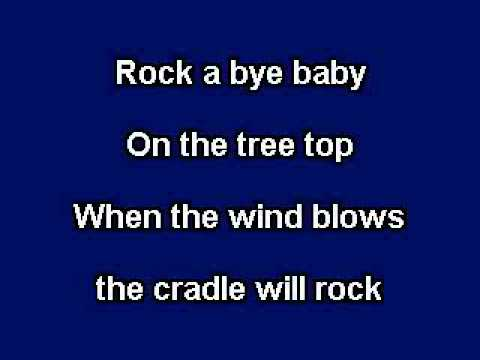 Rock a Bye Baby, Karaoke video with lyrics, Instrumental Version