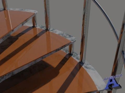 Como fazer uma escada caracol no autocad autocriativo for Como criar caracoles de jardin