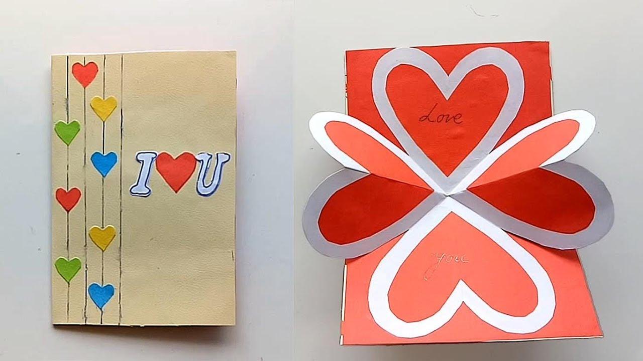 how to make pop up love card  diy pop up valentine card