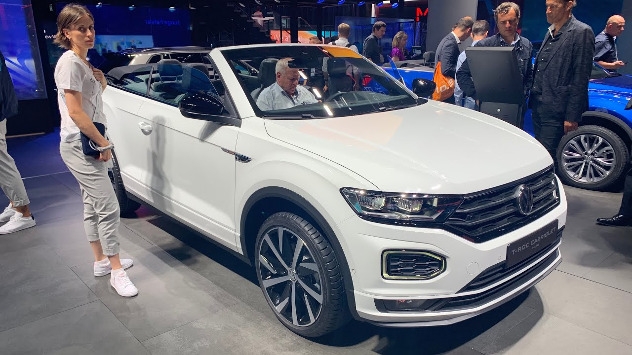 New Volkswagen T Roc Cabriolet 2020 World Premiere Quick Review R Line Vs Style Youtube