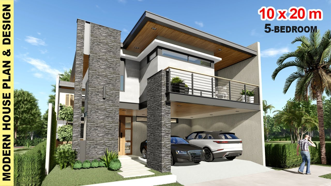 Ep 14 2 Storey 5 Bedroom House Design 10x 20m Lot Modern House Design Neko Art Youtube