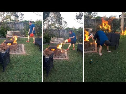 Doc Reno - Idiot sets his mom's garden on fire