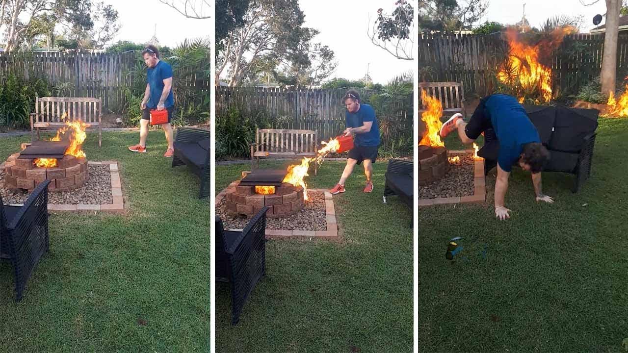 Man Accidentally Sets Fire To Garden