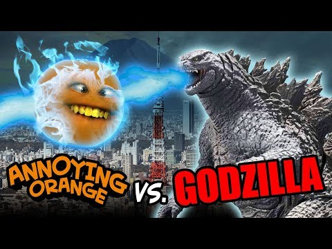 Annoying Orange vs GODZILLA!