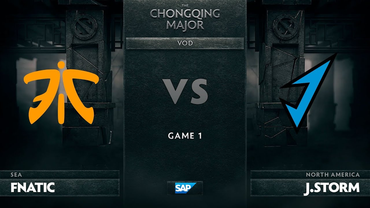 [EN] Fnatic vs J.Storm, Game 1, The Chongqing Major LB Round 2