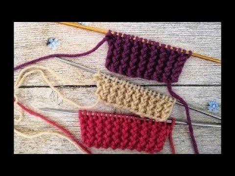 Видеоурок вязание спицами резинку