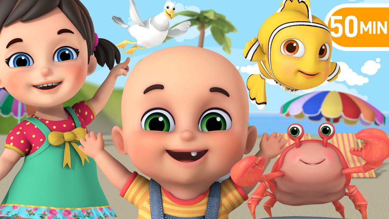 Download Beach Song   Lets learn Sea Animals!    More Nursery Rhymes & Baby songs   Kids Cartoon - Jugnu Kids