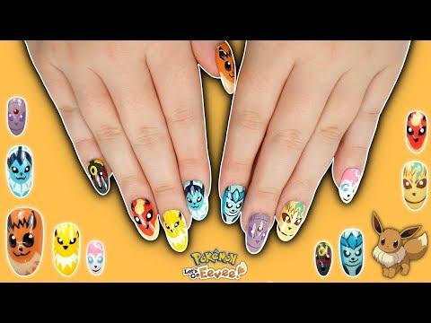 Pokémon Eevee Evolution Nail Art Tutorial - Let's go, Eevee! thumbnail