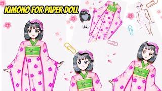Hướng dẫn làm bộ đồ Kimono Nhật Bản cho Búp bê giấy - Paper Doll