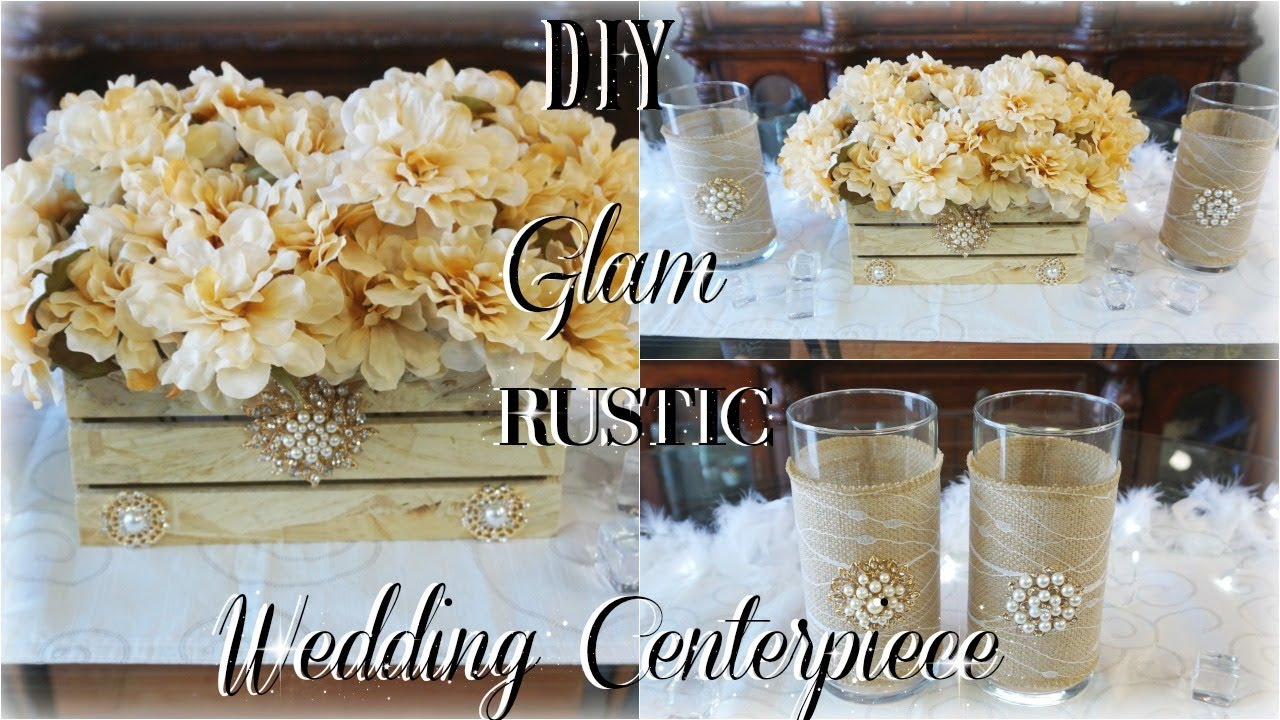 Diy rustic glam wedding centerpiece ft tottaly dazzled bling gems diy rustic glam wedding centerpiece ft tottaly dazzled bling gems diy elegant rustic wedding decor junglespirit