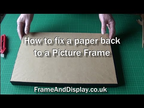 How to fit a paper backing to a picture frame