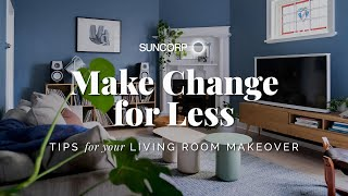 How to Save Money in your Living Room Makeover! Make Change for Less: DIY Home Renovation Tips