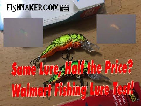 Rebel Vs. Arkie Crawfish! - Walmart Fishing Lure Test: Fishing Tackle Tips