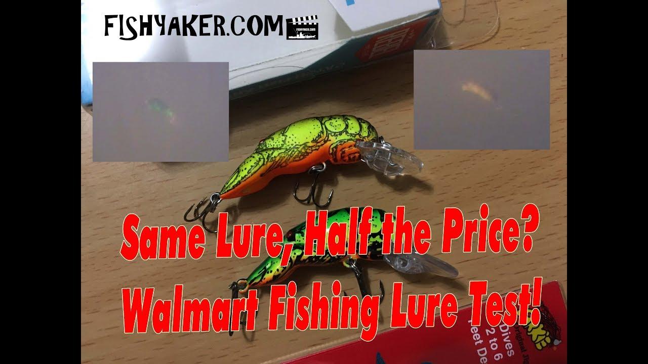 Rebel vs  Arkie Crawfish! - Walmart Fishing Lure Test: Fishing Tackle Tips