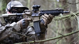 Airsoft War M4A1, M16, Action at Section8 HD