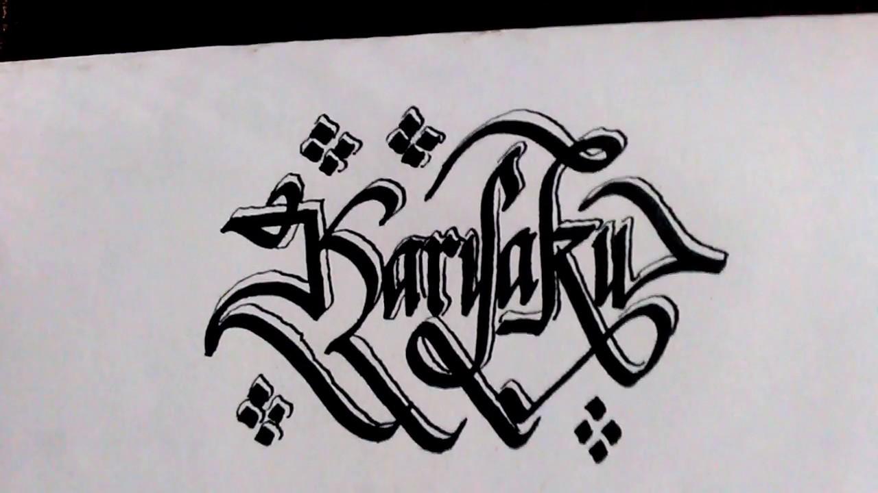 Gambar Kaligrafi Tulisan Latin Cikimm Com