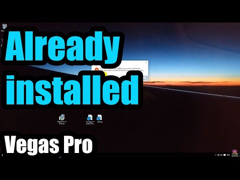 "How to fix ""VEGAS Pro 14, 15, 16 is already installed"" error"