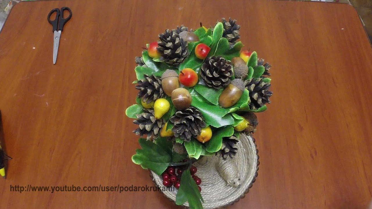 Топиарий из шишек и желудей. Topiary of cones and acorns ...