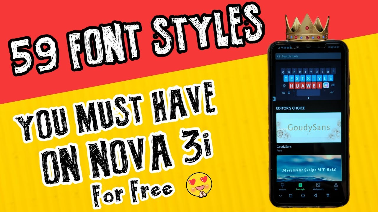 59 Font Styles you must have on Nova 3i for Free ( No Root )