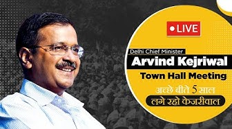 TownHall with Kejriwal from Janakpuri West Delhi