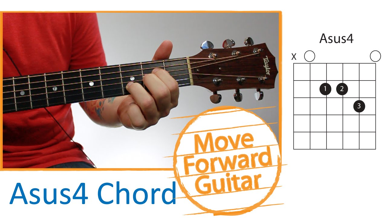 Guitar Chords For Beginners Asus4 Youtube