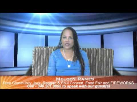 Melody Rames - St.Croix USVI July 4, 2015 Holiday Event   4pm - 1am
