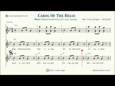 photo about Carol of the Bells Free Printable Sheet Music called CAROL OF THE BELLS - Lyrics - Sheet new music - Karaoke - Chords