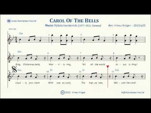 photograph about Carol of the Bells Free Printable Sheet Music titled CAROL OF THE BELLS - Lyrics - Sheet tunes - Karaoke - Chords
