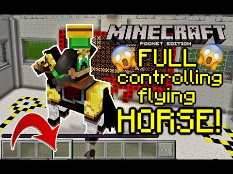 MCPE Full controlling flying HORSE in Minecraft PE 1.5! Command block Tutorial!  **NOT CLICKBAIT**