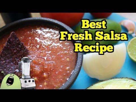 Best FRESH SALSA Recipe in VitaMix Blender or Food Processor
