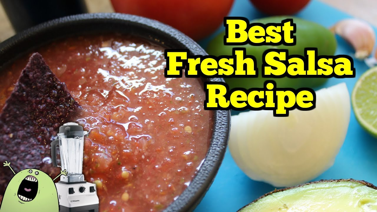 Best fresh salsa recipe in vitamix blender or food processor youtube youtube premium forumfinder Images