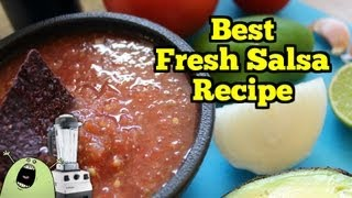 Best Fresh Salsa Recipe In Vitamix Blender Or Food Processor