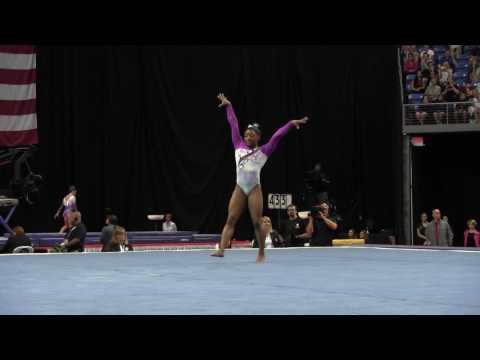 Simone Biles Floor Exercise 2016 P Amp G Gymnastics Cha