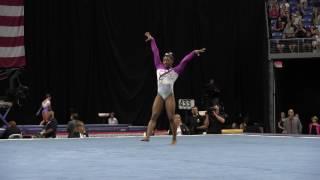 Repeat youtube video Simone Biles- Floor Exercise - 2016 P&G Gymnastics Championships – Sr. Women Day 1