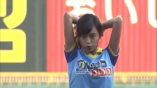小島瑠璃子、甲子園でノーバン始球式 阪神ー巨人戦「ファーストピッチセレモニー」