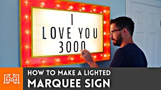 How to Make a Lighted Marquee Sign for Avengers: Endgame