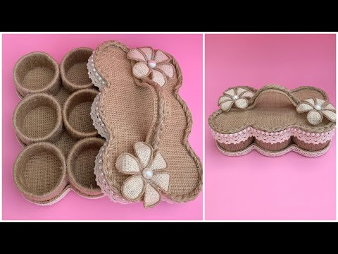 DIY Jewellery Box Made From Jute Rope/ Jute Jewelry Organizer/ Diy Jute Box