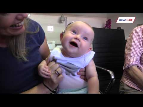 Watch the incredible moment a Cape Town baby hears for the first time