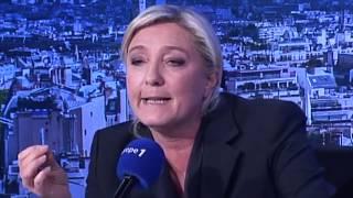 CLASH Marine Le pen / Militante de gauche...