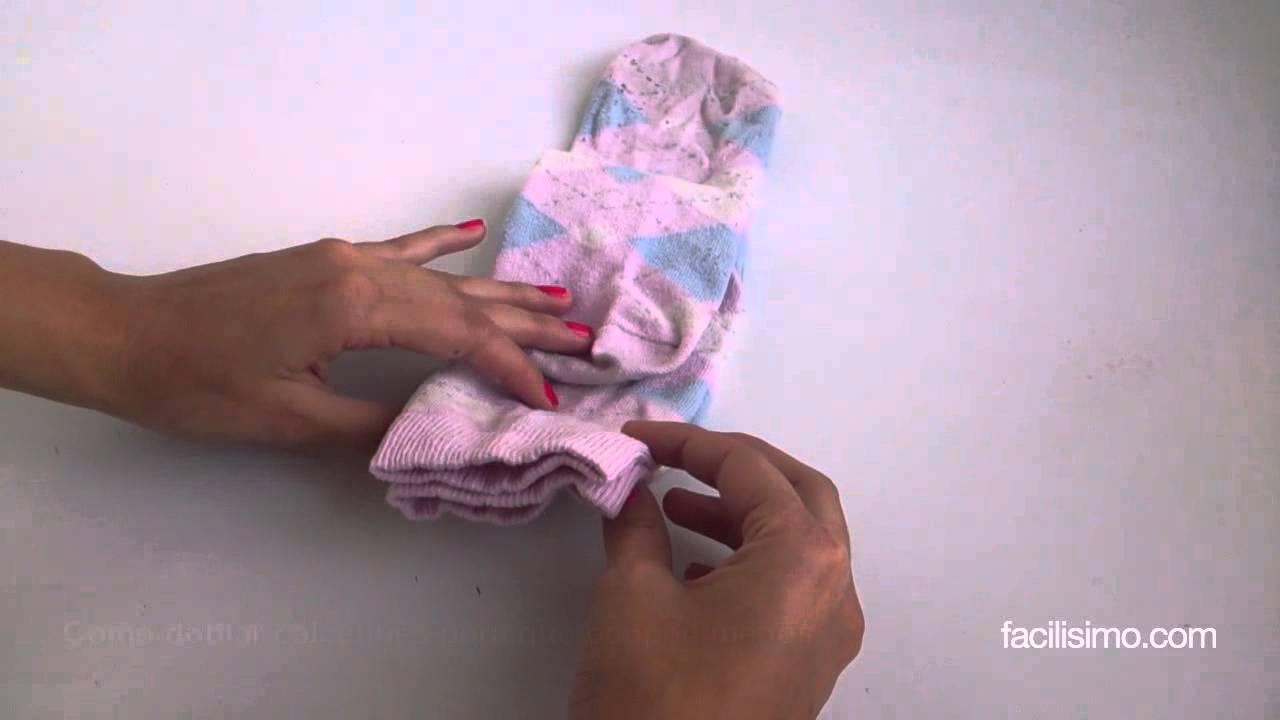 Cómo Doblar Calcetines Para Que Ocupen Menos Facilisimo Com Youtube