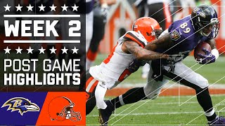 Ravens vs. Browns | NFL Week 2 Game Highlights