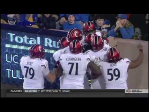 U of Cincinnati's Trick Play Against U Tulsa 2016