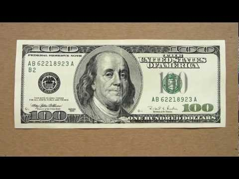 100 US Dollars Banknote (Hundred US Dollars / 1996), Obverse and Reverse