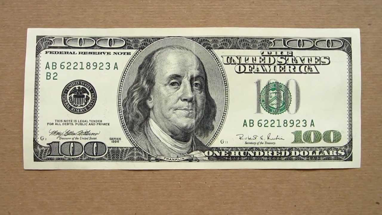 100 Us Dollars Banknote Hundred 1996 Obverse And Reverse You