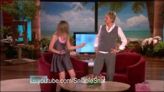 "(HD) Elle Fanning on Ellen for ""Phoebe in Wonderland"""